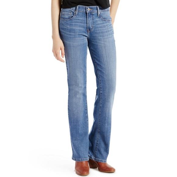 Levi's 515 Boot Cut Blue Denim Stretch Jeans